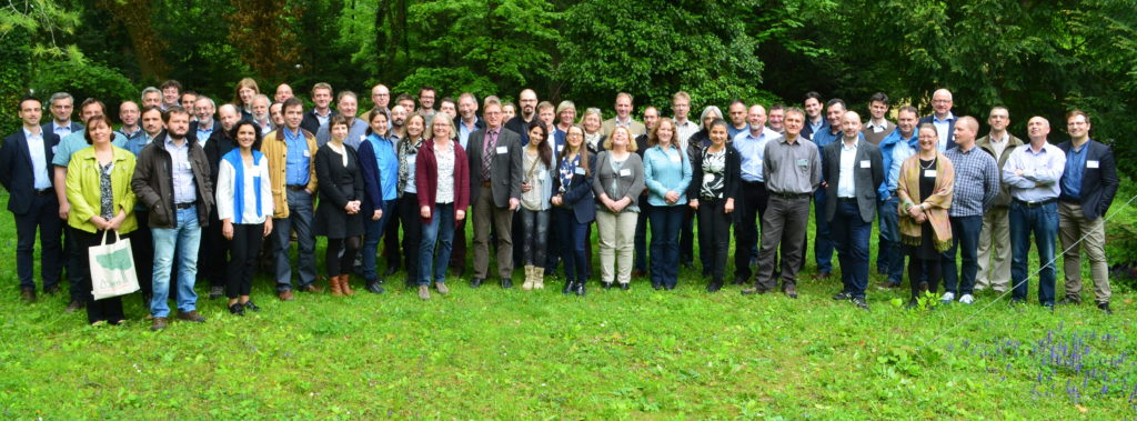 Group phtograph of project meeting participants. The DIABOLO annual project meeting took place at the BFW and IIASA in Vienna and Laxenburg, Austria on 4-5 May 2017. Photo: BFW 2017.